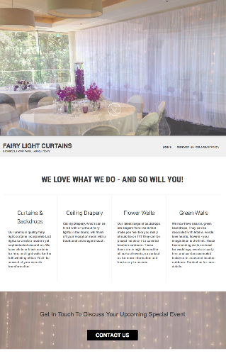 Fairy Light Curtains front page
